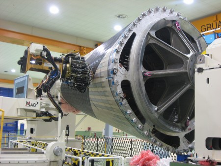 Primera piueza del fuselaje del Airbus A350 XWB hecha en Illescas