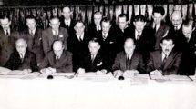 Firma del Convenio de Chicago en 1944.