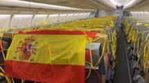 Material sanitario transportado en uno de los vuelos del Corredor Aéreo con aviones de Iberia.