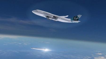 Lanzamiento del LauncherOne desde el Cosmic Girl.