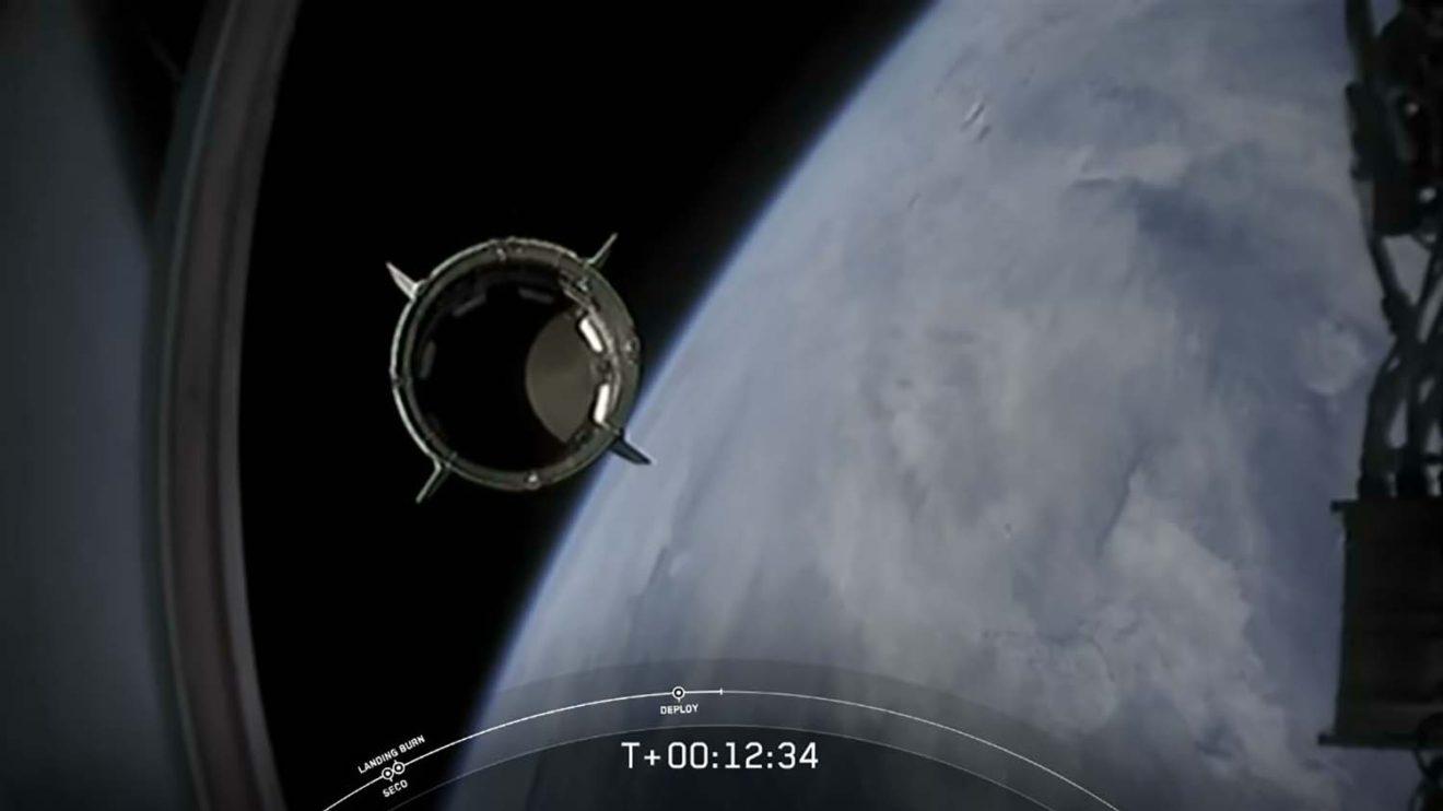 Separación de la segunda etapa del Falcon 9.