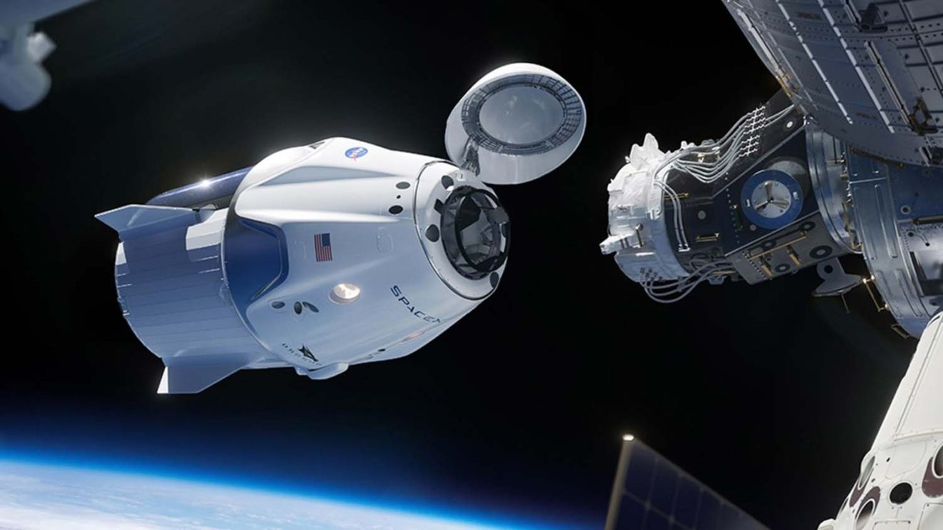 Recreación de como será el acoplamiento con la ISS.