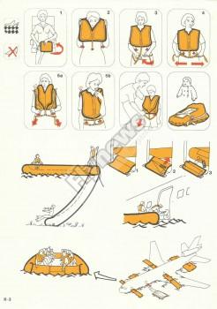 Instrucciones de seguridad del McDonnell Douglas DC-10-30 de Iberia.