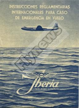 Instrucciones de seguridad del Douglas Dc-4 de Iberia.