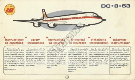 Instrucciones de seguridad del Douglas DC-8-63 de Iberia.