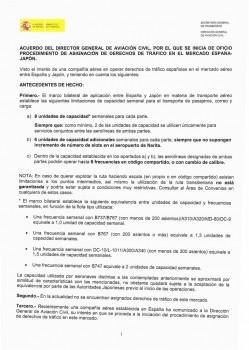 Pincha sobre la imagen para leer el documento de la DGAC sobre la asignación de frecuencias entre España y Japón.