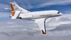 El Falcon 2000LX que operará el DLR fue usado por Dassault para pruebas de vuelo y desarrollo.