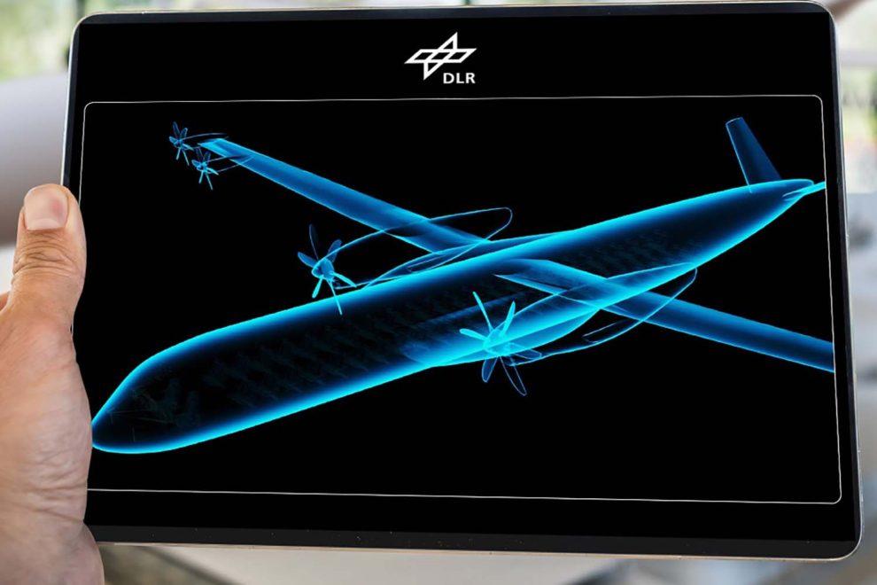 Una de las posibles configuraciones de aviones eléctricos que estudia el DLR.