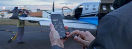 App de control de información del avión en dispositivos  moviles.