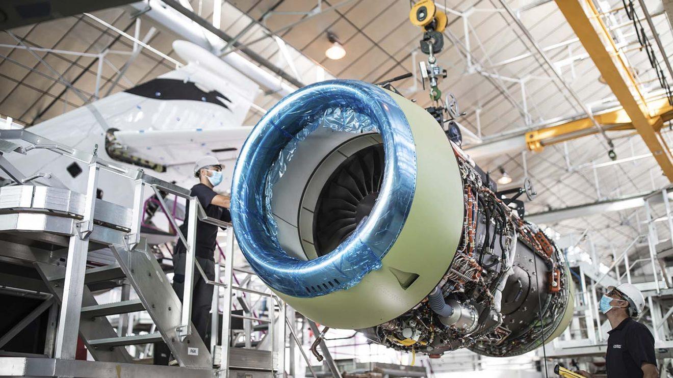 Los motores PW812D ofrecen, según variante, entre 5.450 y 6-900 kg de empuje unitario.