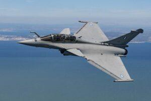 El primer Dassault Rafale de la Fuerza Aérea de Grecia.