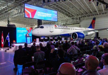Ceremonia de entrega del A220 de Delta.