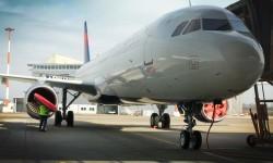 Preparación en Toulouse del primer Airbus A321 de Delta para su vuelo de entrega.