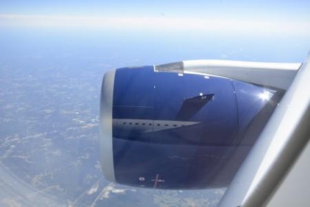 El A350 estaba tan  nuevo que no es que brillase, es que las carcasas de los motores Rolls-Royce Trent XWB eran todavía espejos.