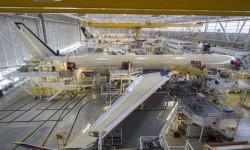El primer Airbus A350 para Delta en la cadena de montaje de Toulouse.