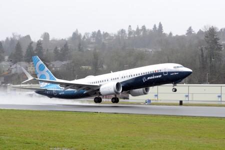 Despegue de Renton del Boeing 737 MAX 8.