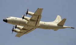 El P.3 elegido por el Ala 22 para representarla en el desfile ha sido el P3A-01/22-21 con su deriva decorada especialmente.