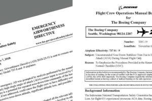 Directivas emitidas por Boeing y la FAA sobre la posible pérdida de control en los Boeing 737 MAX.
