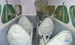 Cuatro de los asientos del Dragon Rapide.