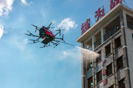 EHang está probando diversos usos para su taxi aéreo Chang 216.