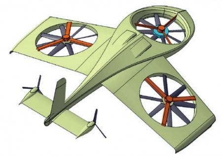 Diseño conceptual del dron que está desarrollando Akka Technologies.
