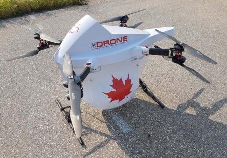 Uno de los drones de craga que ya se están probando operativamente en varias ciudades de Canadá.