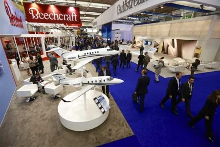 El Salón de la aviación corporativa EBACE 2014 abre hoy sus puertas en Ginebra (Foto de la edición de 2013)