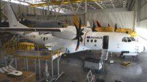 El EC-295 durante las pruebas en tierra en uno de los hangares de Airbus en Sevilla.