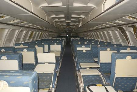 Cabina de pasaje del Boeing 727 EC-CFE