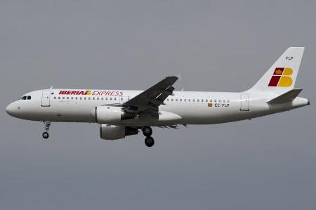 Un A320 de Iberia Express en vuelo