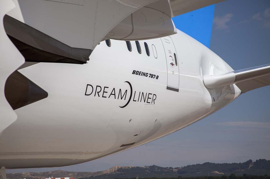 En 2016 Air Europa recibirá otros cuatro aviones como este que ha llegado hoy 16 de marzo a Madrid.