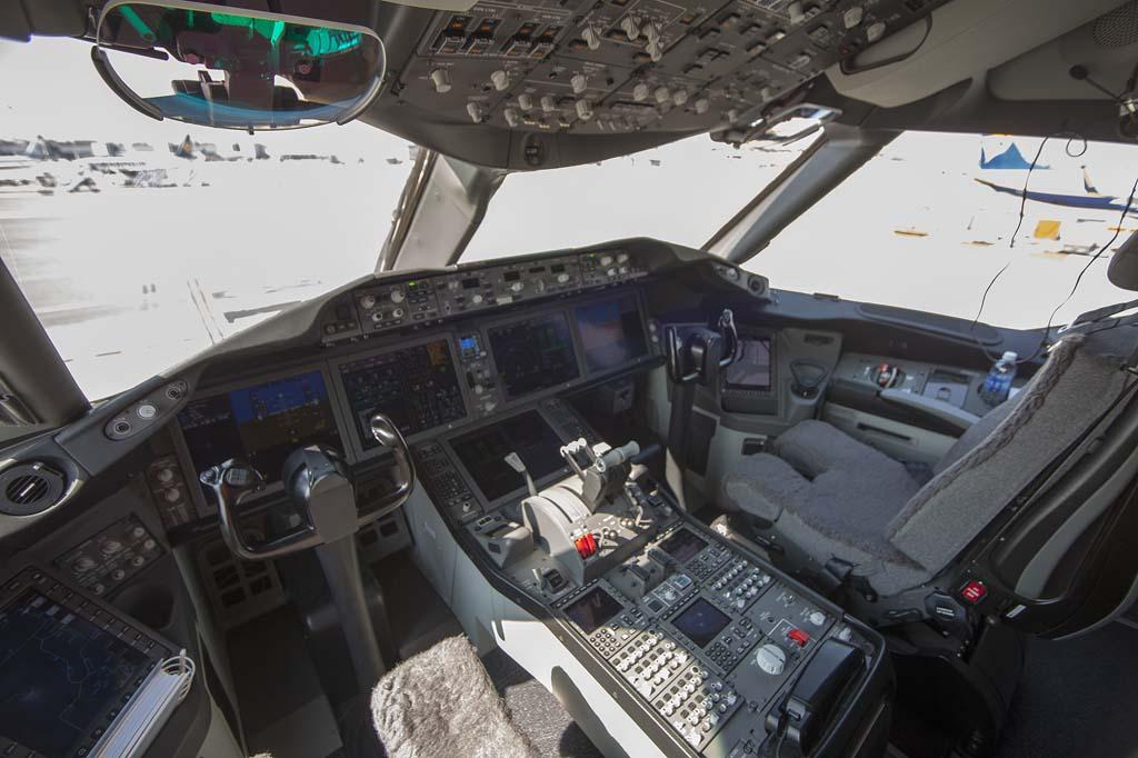 La oficina de los pilotos poco después de la llegada a Madrid.