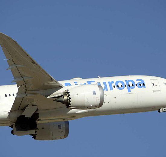 Air Europa cuenta con ocho Boeing 787.8 y dos B-787-9 en servicio.