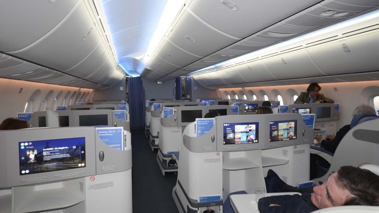 La cabina de clase business cuenta con 30 asientos, aunque con la llegada del quinto avión se añadirán otros dos.