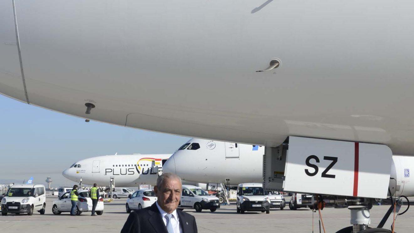 Air Europa ha bautizado su primer Boeing 787-9 con el nombre de su presidente, Juan José Hidalgo.