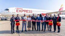 Bautismo del Airbus A321 EC-NGP de Iberia Express.