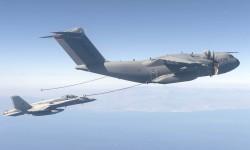 Para los ensayos de repostaje se ha utilizado uno de los F/A-18 instrumentados que opera el CLAEX.