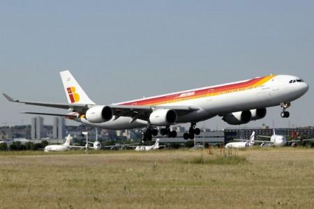 A340-600 de Iberia donde se coló el polizón