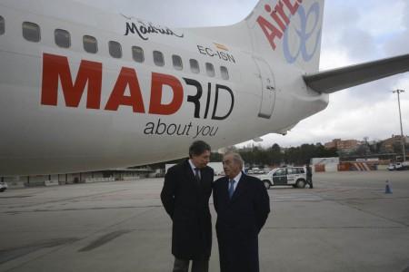 Presentación del avión de Air Europa para promocionar Madrid