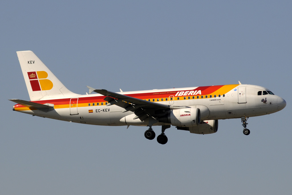 EC-KEV, Airbus A319 de Iberia