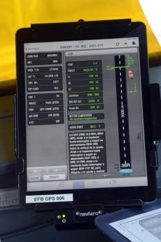 Ejemplo de cálculo de los datos para el aterrizaje.
