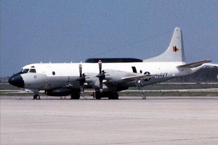 Un Lockheed EP-3E del escuadrón VQ-2 basado en Rota entre 1991 y 2005.