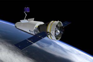 Ilustración del Space Rider en órbita.q