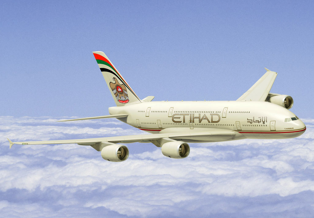 Airbus A380 de Etihad Airways