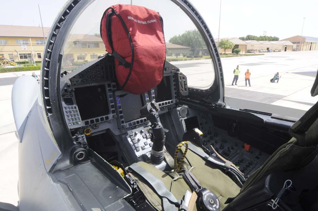 Cockpit del Eurofighter.