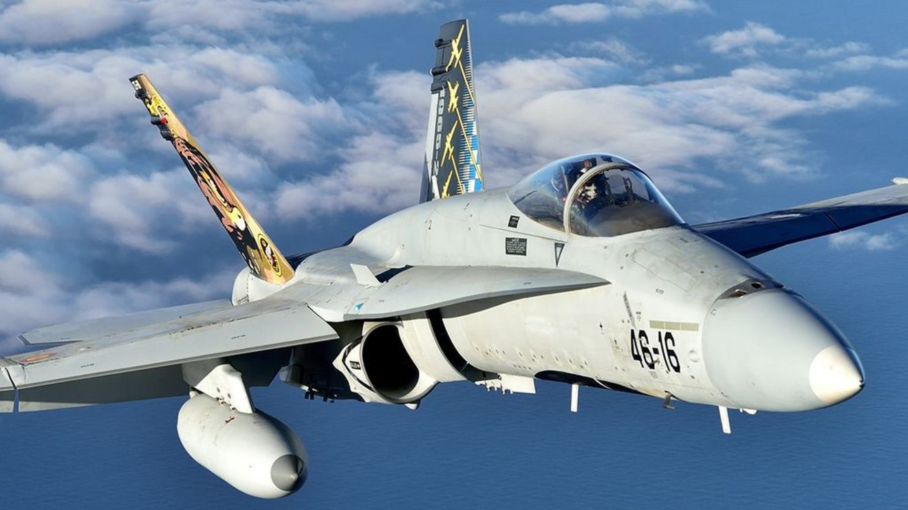 En el año 2015 el Ala 46 celebró sus 50 años decorando este F/A-18.