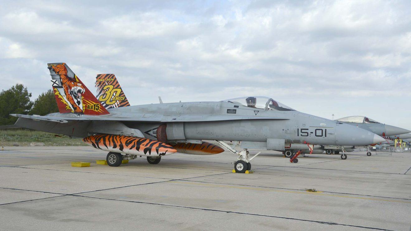 Las unidades aéreas de países de la OTAN que tienen un tigre en su escudo celebran cada año las maniobras Tiger Meet para las que decoran especialmente algunos de sus aviones.