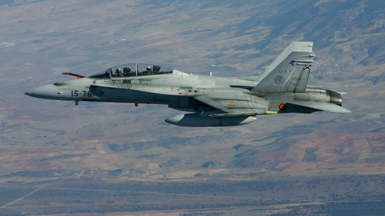 F/A.18B del Ala 15.
