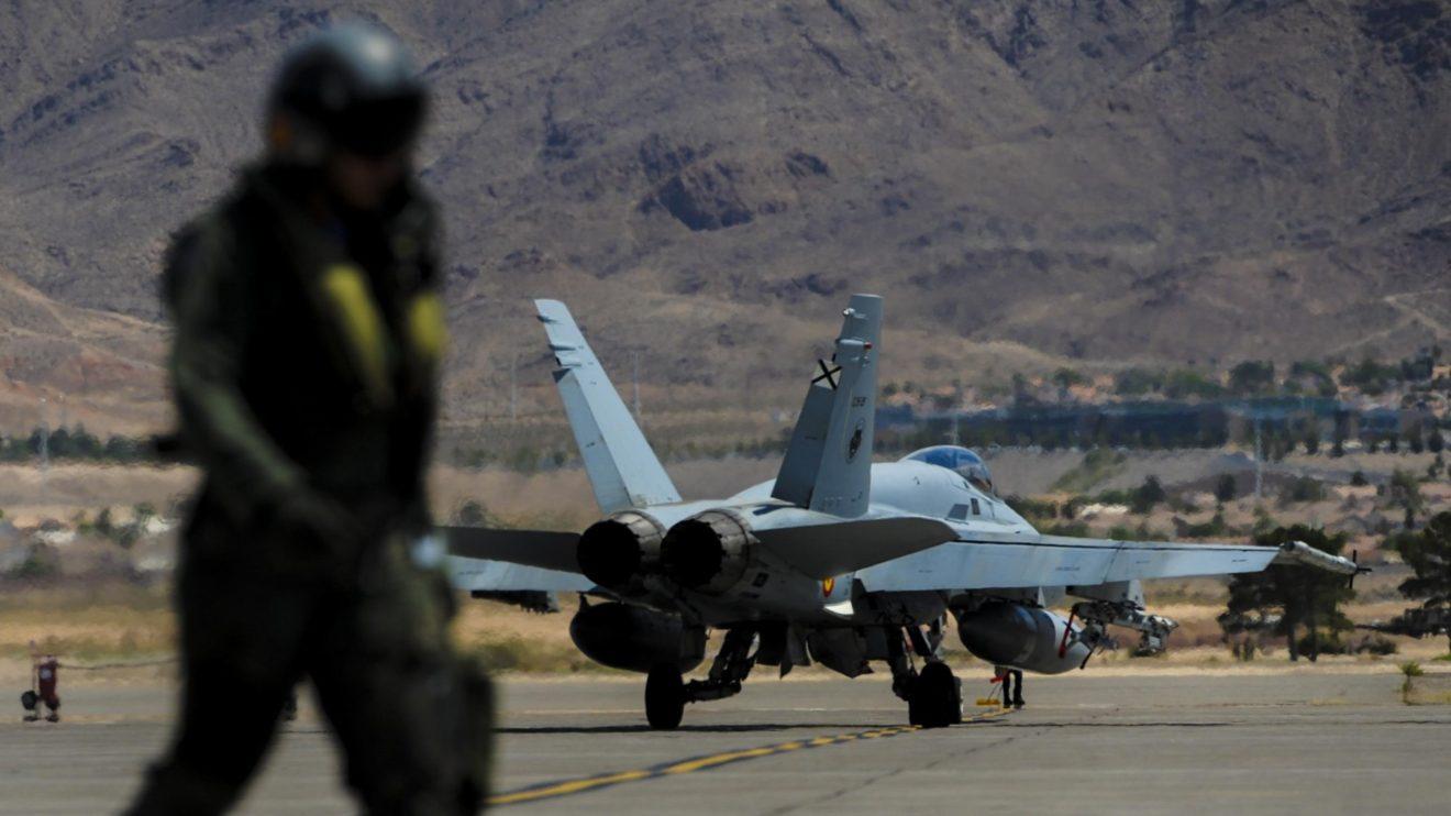 Los F/A-18 españoles han participado en alguno de los ejercicios internacionales más importantes. Entre ellos los Red Flag en la base aérea de Nellis.