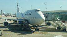 Boeing 747 de El Al en el aeropuerto de Barcelona El Prat.
